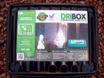 DRiBOX 330 large perfect for our 4 way outdoor extension leads